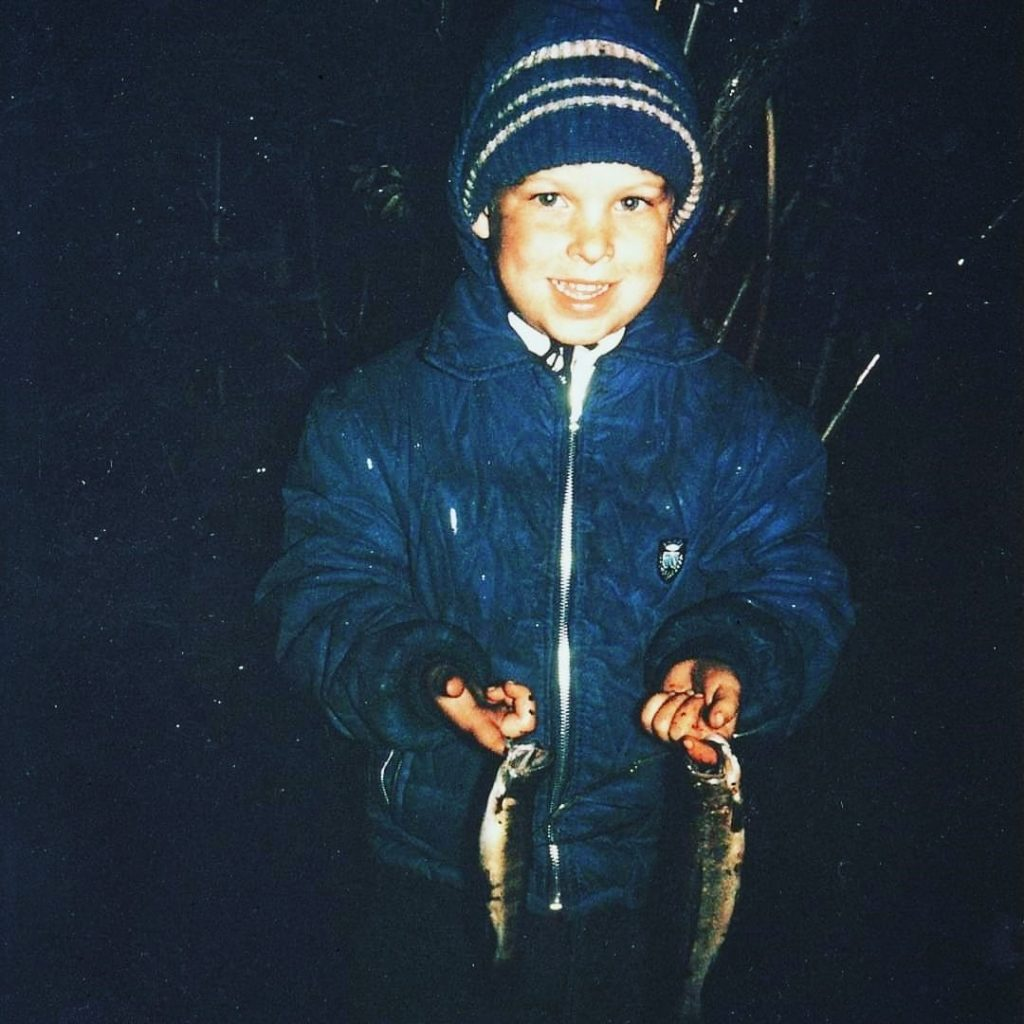 Young Gordie and some McVicar Creek brook trout